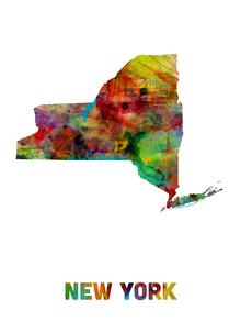Fototapet - New York State Map