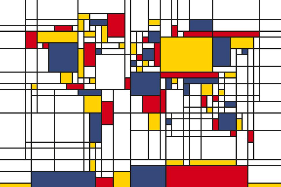 Piet mondrian style world map canvas print photos photowall piet mondrian style world map sciox Images