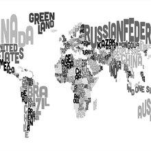 World Map Wallpaper Wall Murals Photowallcouk - Black map world
