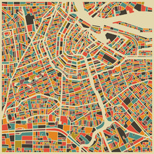 Fototapet - Multicolor Map - Amsterdam