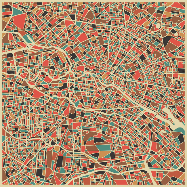 Multicolor Map - Berlin