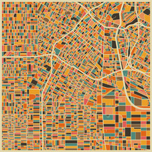 Fototapet - Multicolor Map - Los Angeles