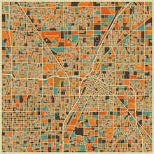 Fototapet - Multicolor Map - Las Vegas