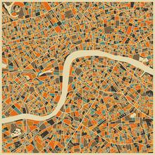 Wall mural - Multicolor Map - London