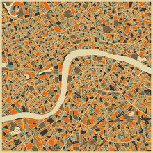 Canvas print - Multicolor Map - London