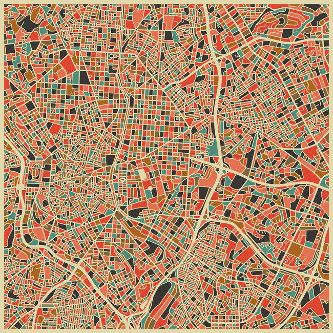 Multicolor Map - Madrid
