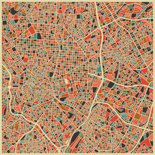 Fototapet - Multicolor Map - Madrid