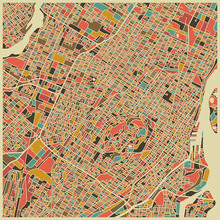 Fototapet - Multicolor Map - Montreal