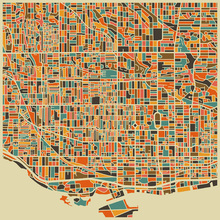 Wall Mural - Multicolor Map - Toronto