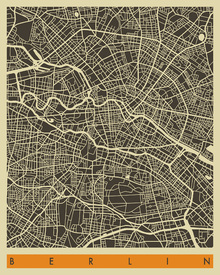 Canvas print - City Map - Berlin