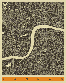 Fototapet - City Map - London