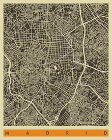 Wall Mural - City Map - Madrid
