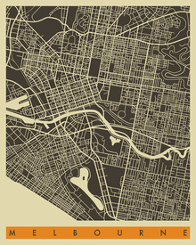 Fototapet - City Map - Melbourne