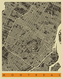 Fototapet - City Map - Montreal