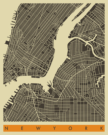 Wall Mural - City Map - New York