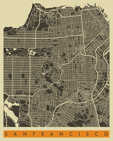 Wall mural - City Map - San Francisco