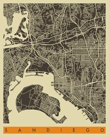 Canvas-taulu - City Map - San Diego