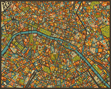 Leinwandbild - Paris Street Map
