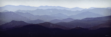 Fototapet - Ryan Fowler - Purple Mountains
