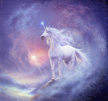 Canvasschilderij - Astral Unicorn