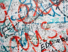 Canvas print - Berlin Wall Closeup on Potsdamer Platz