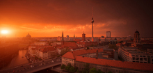 Fototapet - Berlin Skyline City Panorama with Sunset