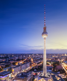 Fototapet - Berlin, Germany. View of TV tower