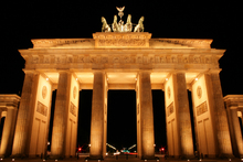 Canvas print - Brandenburg Gate at Night