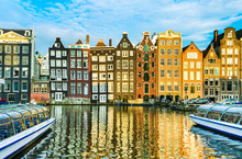 Fotobehang - Traditional Houses of Amsterdam, Netherlands