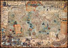 Wall mural - Pirate Map
