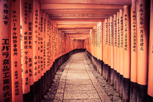 Canvas-taulu - Historical Kyoto Gates in Japan