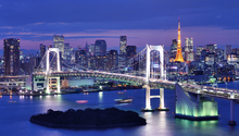 Canvas print - Rainbow Bridge and Tokyo Tower