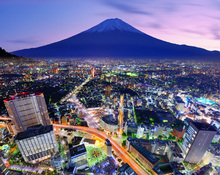 Canvas print - Ueno District and Mt. Fuji in Tokyo, Japan