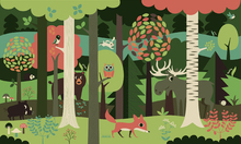 Wall mural - In the Forest - Green