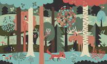 Wall mural - In the Forest - Turquoise