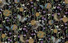 Wallpaper - Bubblegum Bird Black