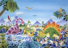 Wall mural - Dinosaur Land