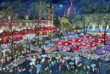 Wall mural - A Night At Montmartre