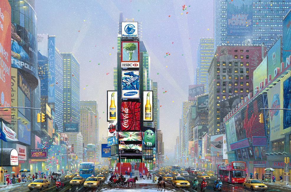 New York-Times Square Winter - Wall Mural & Photo Wallpaper ...