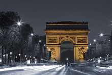 Fototapet - L'arc de Triomphe by Night - Paris