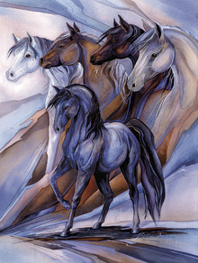 Wall mural - Inspired by the Five Horses