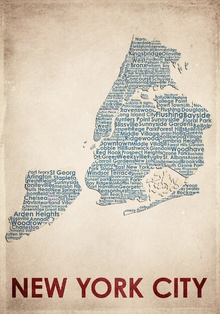Canvas-taulu - New York City Map