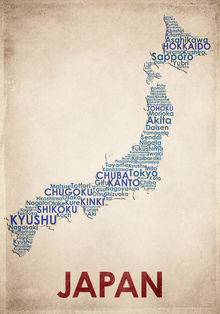 Canvas print - Japan Map
