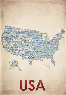 Canvas print - USA Map