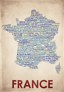 Canvas print - France Map