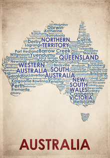 Canvas print - Australia Map