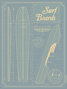 Canvas-taulu - Surf Boards - American Flat