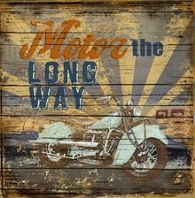 Canvas print - Motor the Way