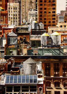 Canvas print - New York Rooftops