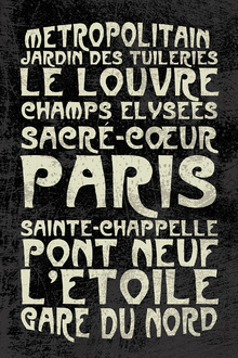 Canvas print - Paris Sign